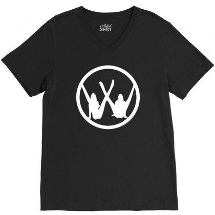 Vw Strip Logo V-neck Tee Designed By Tonyhaddearts