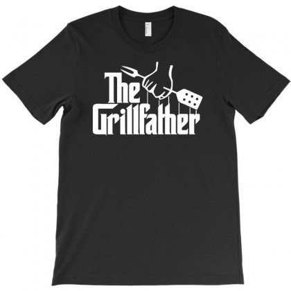 The Grillfather  Funny Bbq T-shirt Designed By Mdk Art