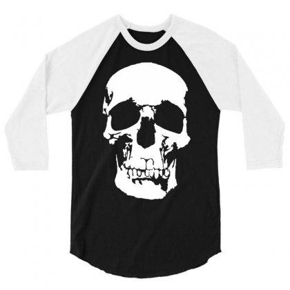 Tone Skull 3/4 Sleeve Shirt Designed By Mdk Art