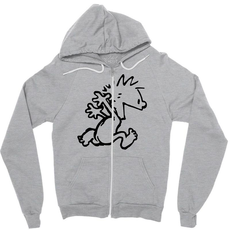 354ad0eb Custom Calvin & Hobbes Comic Running Naked Zipper Hoodie By Andini ...