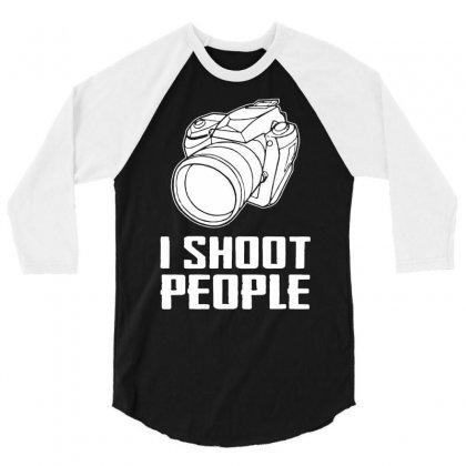 Digital Camera I Shoot People 3/4 Sleeve Shirt Designed By Andini