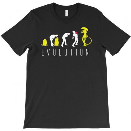 Evolution Of Alien, Funny T-shirt Designed By Andini