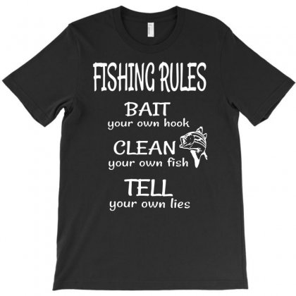 Fishing Rules Funny T-shirt Designed By Andini