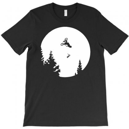 Funny Et Moon Bmx T-shirt Designed By Andini