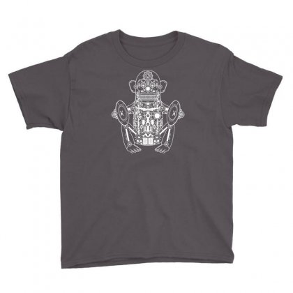 Musician Monkey Robot Youth Tee Designed By Andini