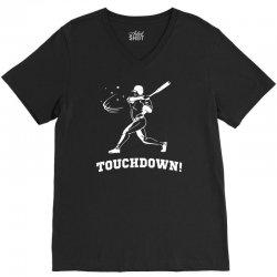 touchdown   funny sports V-Neck Tee   Artistshot