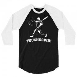 touchdown   funny sports 3/4 Sleeve Shirt   Artistshot
