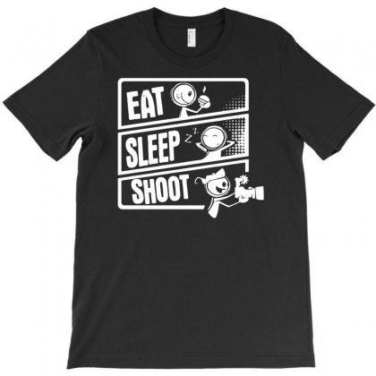 V3 Eat Sleep Shoot T-shirt Designed By Andini