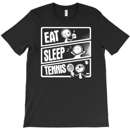 V3 Eat Sleep Tennis T-shirt Designed By Andini