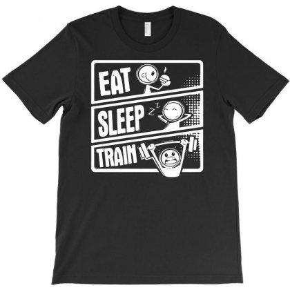 V3 Eat Sleep T-shirt Designed By Andini