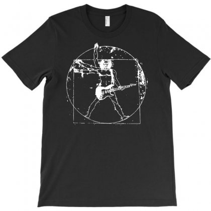 Vitruvian Guitarist T-shirt Designed By Andini