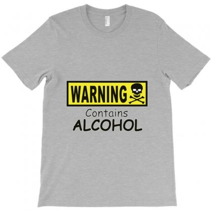 Warning! Contains Alcohol T-shirt Designed By Andini
