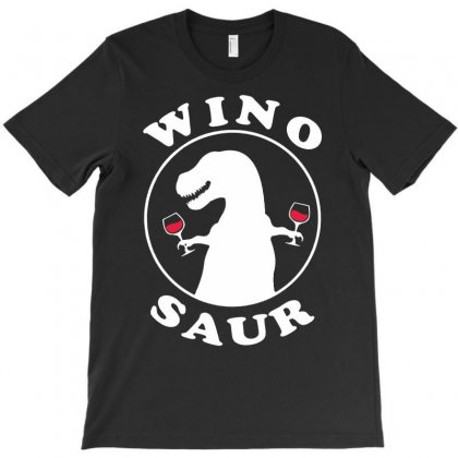 Wino Saur   Funny Wine Drinking T-shirt Designed By Andini