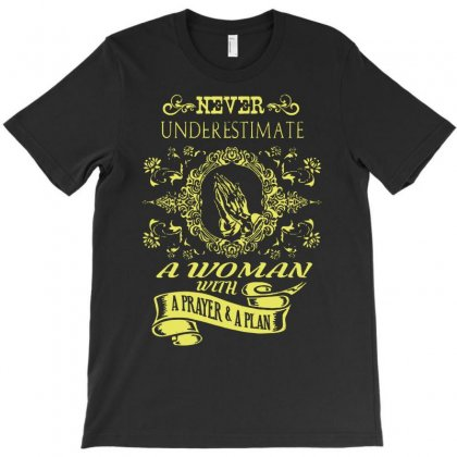 Women With A Prayer And A Plan   Funny T-shirt Designed By Andini