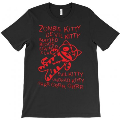 Zombie Soft Kitty T-shirt Designed By Andini
