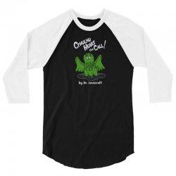 cthulhu hears the call 3/4 Sleeve Shirt | Artistshot