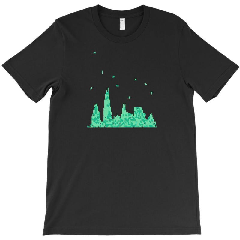 Chicago Skyline T-shirt | Artistshot