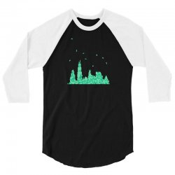 chicago skyline 3/4 Sleeve Shirt | Artistshot