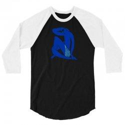 blue (never)nude 3/4 Sleeve Shirt   Artistshot