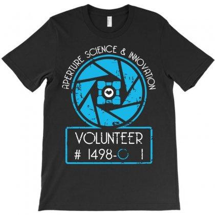 Aperture Science Volunteer T-shirt Designed By Deomatis9888