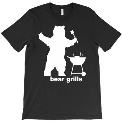 Bear Grills Bbq Funny T-shirt Designed By Mardins