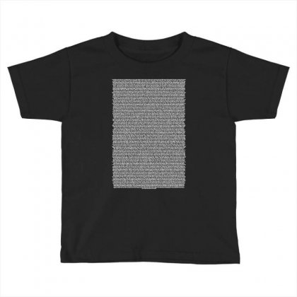 Bee Movie Script Toddler T-shirt Designed By Vr46