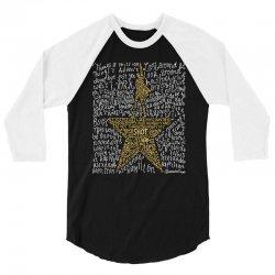 Hamilton Typography 3/4 Sleeve Shirt | Artistshot