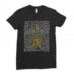 Hamilton Typography Ladies Fitted T-Shirt | Artistshot