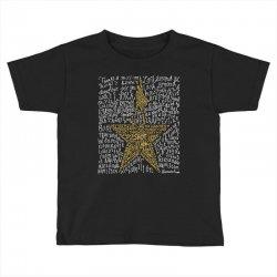 Hamilton Typography Toddler T-shirt | Artistshot