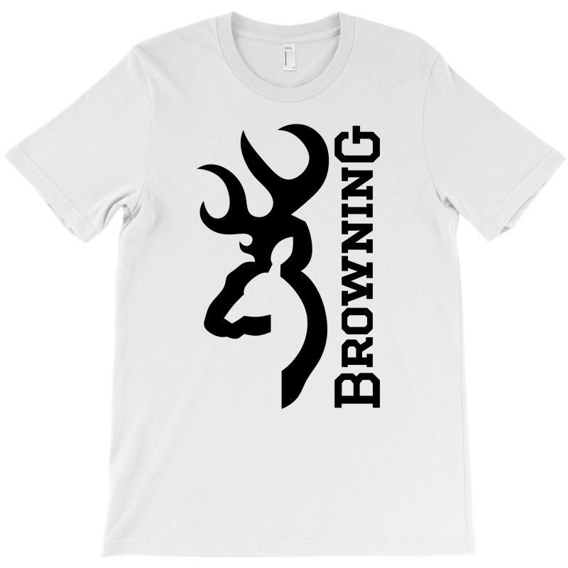 e8b32fd8 Custom Browning Deer On Flag Us T-shirt By Marpindua21 - Artistshot