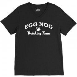 egg nog drinking team V-Neck Tee | Artistshot