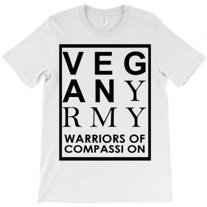 Vegan Army Warriors Of Compassion T-shirt Designed By Designbysebastian