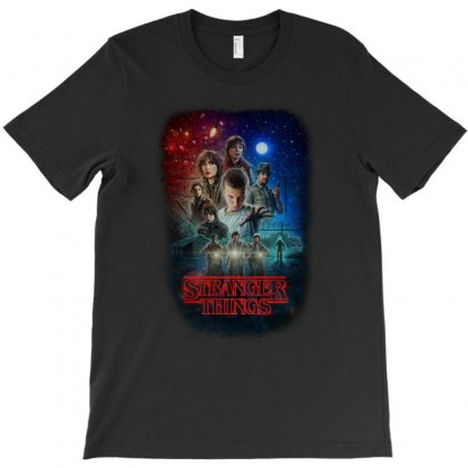 Stranger Things Poster T-shirt Designed By Vr46
