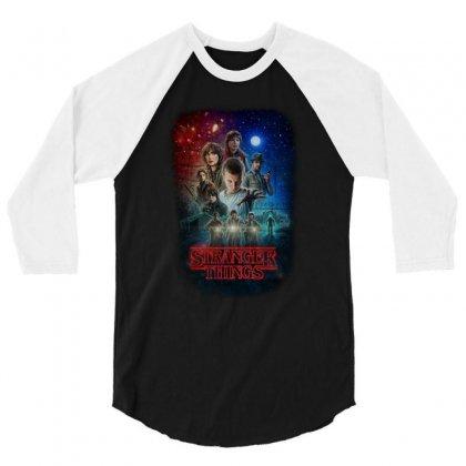 Stranger Things Poster 3/4 Sleeve Shirt Designed By Vr46