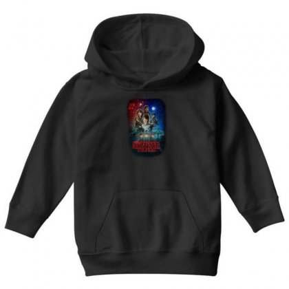 Stranger Things Poster Youth Hoodie Designed By Vr46