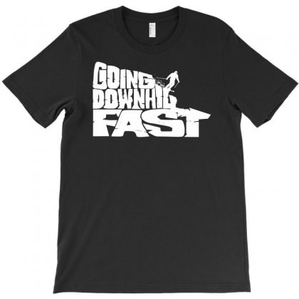 Going Downhill Fast Skiing T-shirt Designed By Mardins
