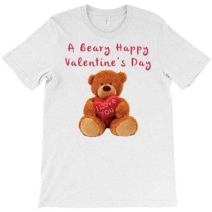 Beary Say Valentine T-shirt Designed By Harmonydue