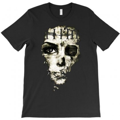 H.i.m. Skull Face T-shirt Designed By Mardins