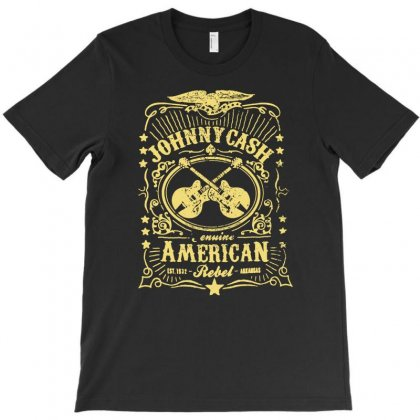 Johnny Cash American Rebel T-shirt Designed By Mardins
