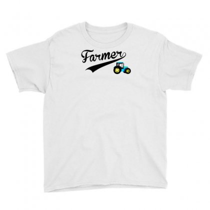 Farmer   Tractor Youth Tee Designed By Lub1s