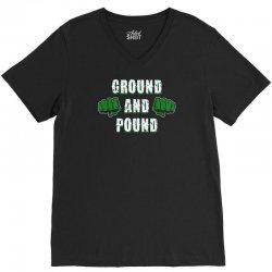 ground and pound V-Neck Tee | Artistshot