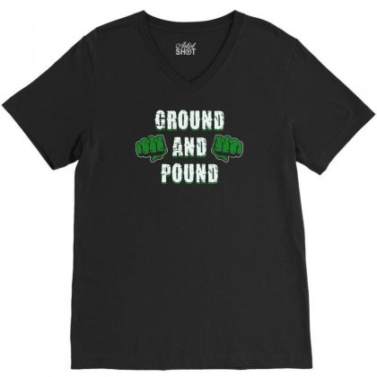 Ground And Pound V-neck Tee Designed By Lub1s