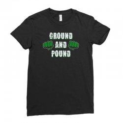 ground and pound Ladies Fitted T-Shirt | Artistshot