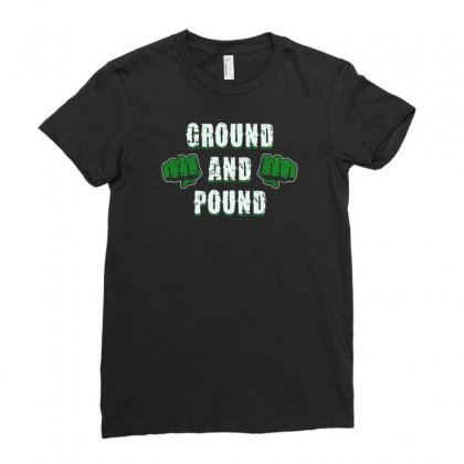 Ground And Pound Ladies Fitted T-shirt Designed By Lub1s