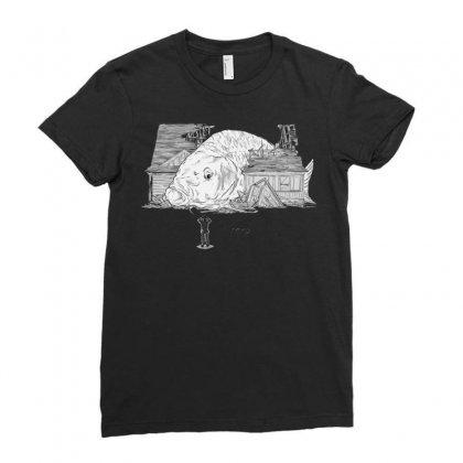 Oh Carp Ladies Fitted T-shirt Designed By Katabudi
