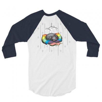 Nyan's Dream 3/4 Sleeve Shirt Designed By Katabudi