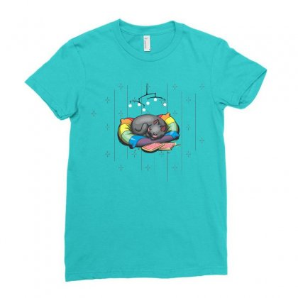 Nyan's Dream Ladies Fitted T-shirt Designed By Katabudi