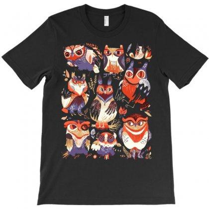 Owl Party T-shirt Designed By Sayasiti