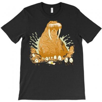 The Walrus Vs The Eggmen T-shirt Designed By Sayasiti