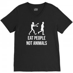 eat people not animals V-Neck Tee | Artistshot